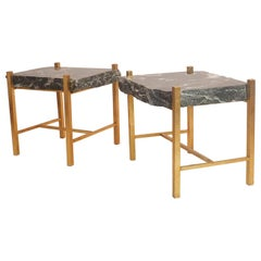 Mid-Century Modern Pair of Breccia Marble Side Tables by Banci in Firenze, 1970s