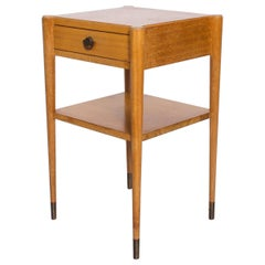 Mid-Century Modern Paul Frankl by Brown Saltman Side Table End Table in Mahogany