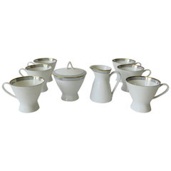 Midcentury Modern Rosenthal White Porcelain Coffee or Tea Set