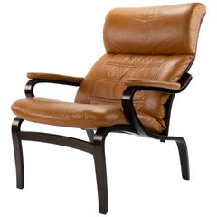 Mid-Century Modern Scandinavian Armchair After Bruno Mathsson Denmark 1970