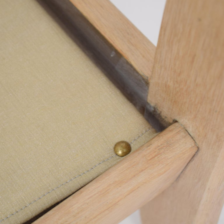 Midcentury Modern Scandinavian Light Oak Wood and Faux Fur Armchair, circa 1970 For Sale 13