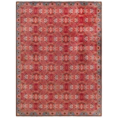 Mid-Century Modern Scandinavian Rug in Shades of Pink and Grey
