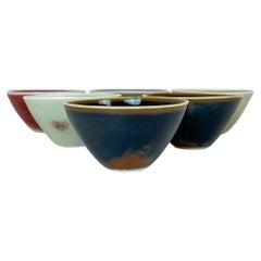 Midcentury Modern Set of 6 Small Bowls Rörstrand Carl Harry Stålhane, Sweden