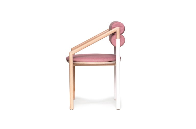 Timeless design and minimalism, soft colors and effortless lines. The Zort dining chair will always be there to hold your back with soft cushioning. Upholstery available in various colors and textures.  * Solid beechwood frame. * Natural matte