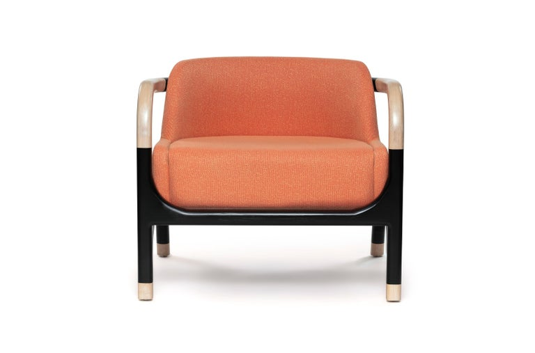 When it comes to design, the goal is to give each piece spirit. Our Nolia armchair and it's poise makes a grand entrance each and every time. Come see who else we've brought to life. Also customizable for loveseat and sofa.  Solid beechwood