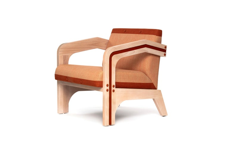 Eluney lounge chair is made of solid wood, we use FCS certified wood, which provide not only high durability, but fair wages and safe work conditions for everyone involved. Beautiful on the outside, beautiful on the inside. Also customizable for