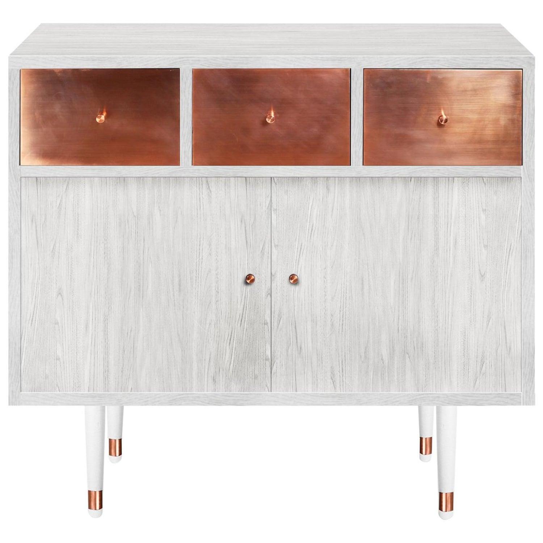 Midcentury Modern Style Vatnafjoll Cabinet or Credenza Ash Veneer