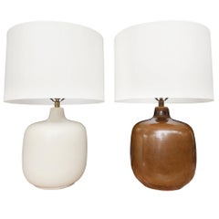 Mid-Century Modern Table Lamps by Lotte & Gunnar Bostlund, a Set of 2