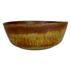Midcentury Modern Unique Large Ceramic Bowl Carl-Harry Stålhane Rörstrand Sweden