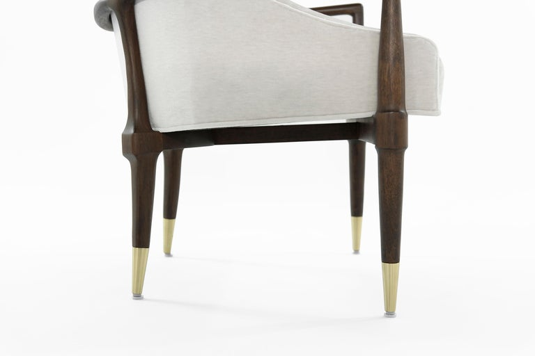 Mid-Century Modern Walnut Lounge Chairs, circa 1950s For Sale 6