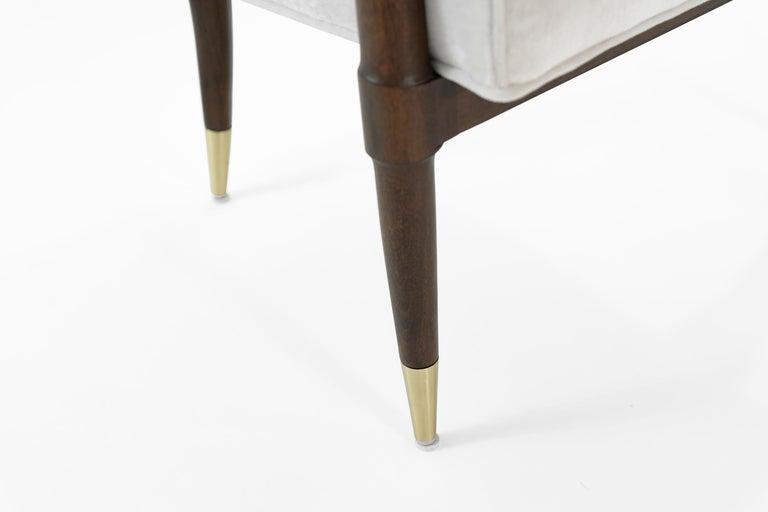 Mid-Century Modern Walnut Lounge Chairs, circa 1950s For Sale 9