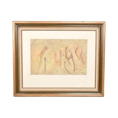 Midcentury Modernism Abstract Oil Painting by a Rahnlar