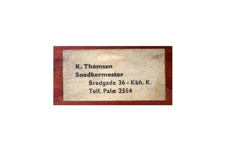 Midcentury Mogens Lassen Stool, Denmark, 1942 For Sale 11