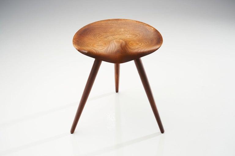 Teak Midcentury Mogens Lassen Stool, Denmark, 1942 For Sale