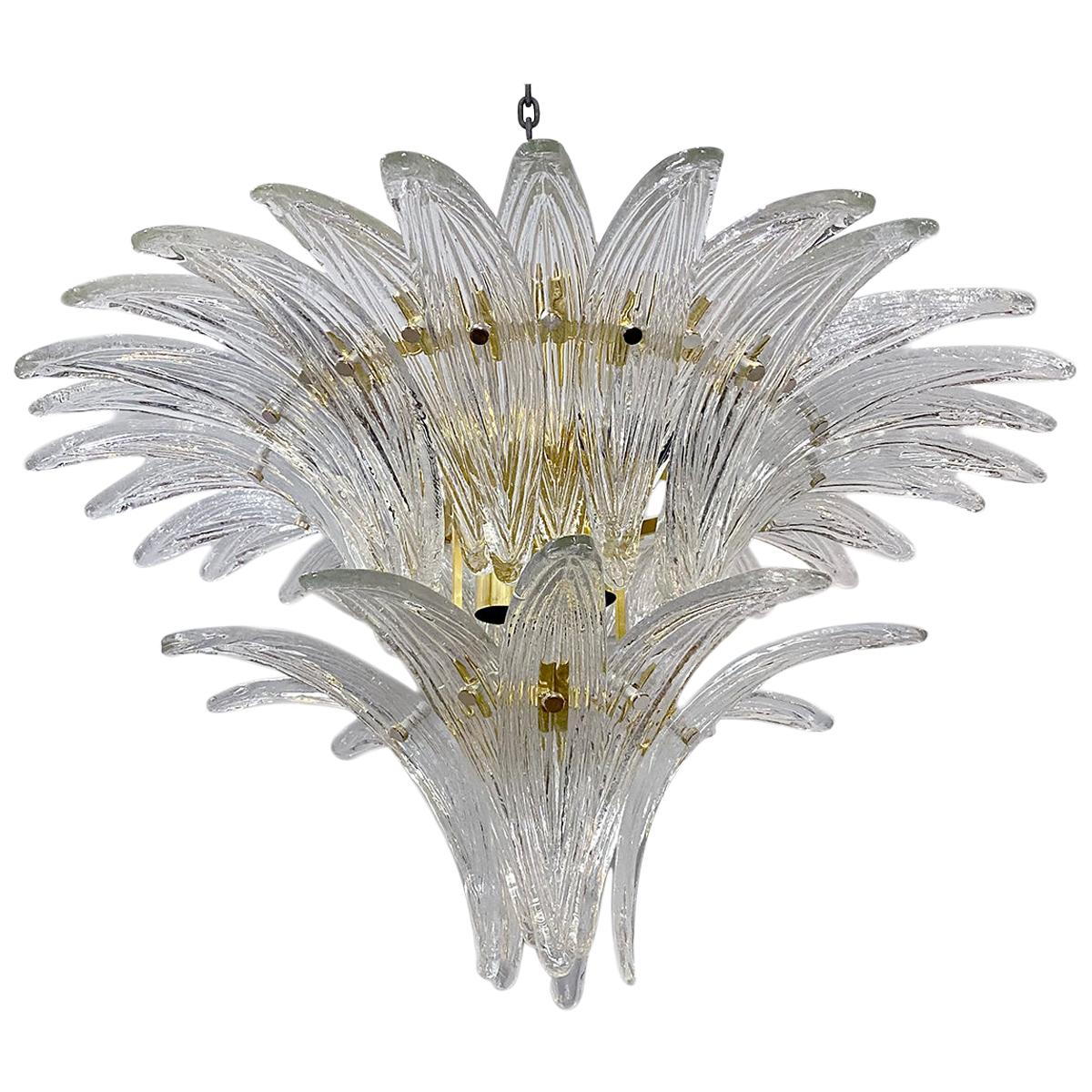Midcentury Molded Glass Light Fixture