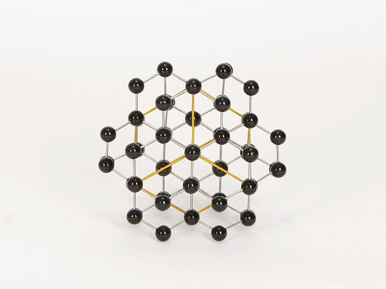 Metal Midcentury Molecular Models Set from the 1950s, 7 Pieces For Sale