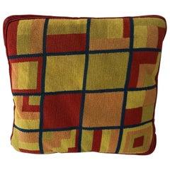 Midcentury Mondrian Inspired Needlepoint Pillow
