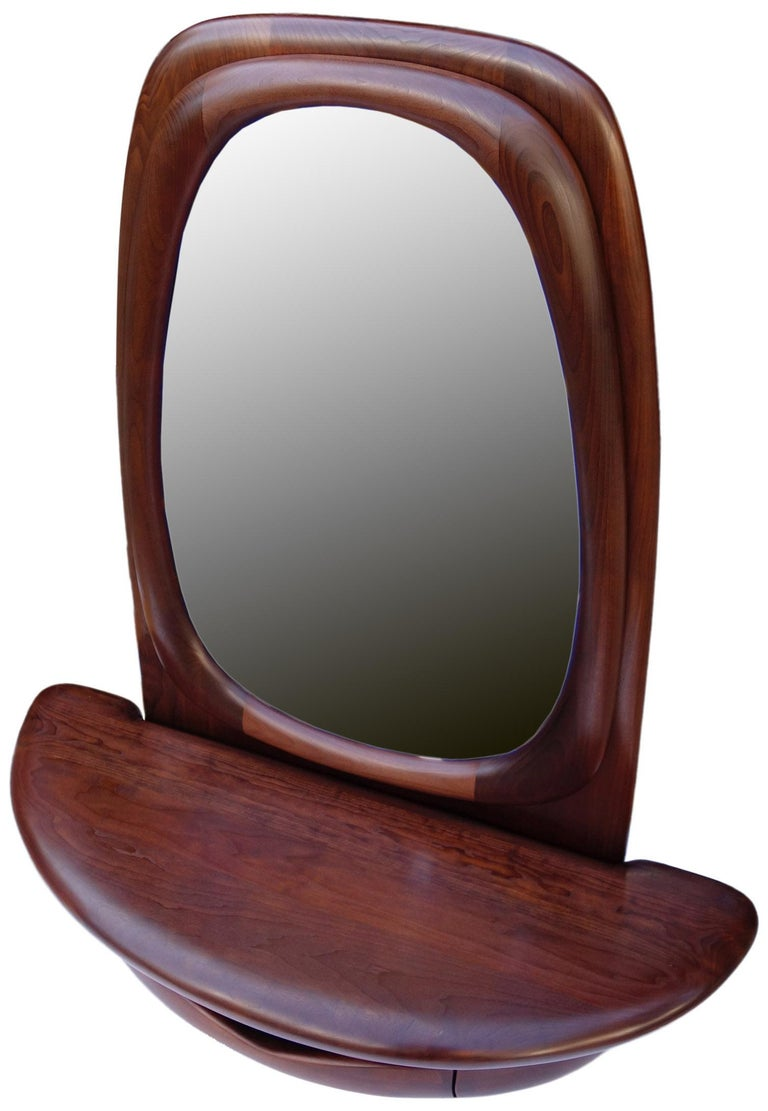 Midcentury Monumental Riverstone Mirror by Dean Santner For Sale 3