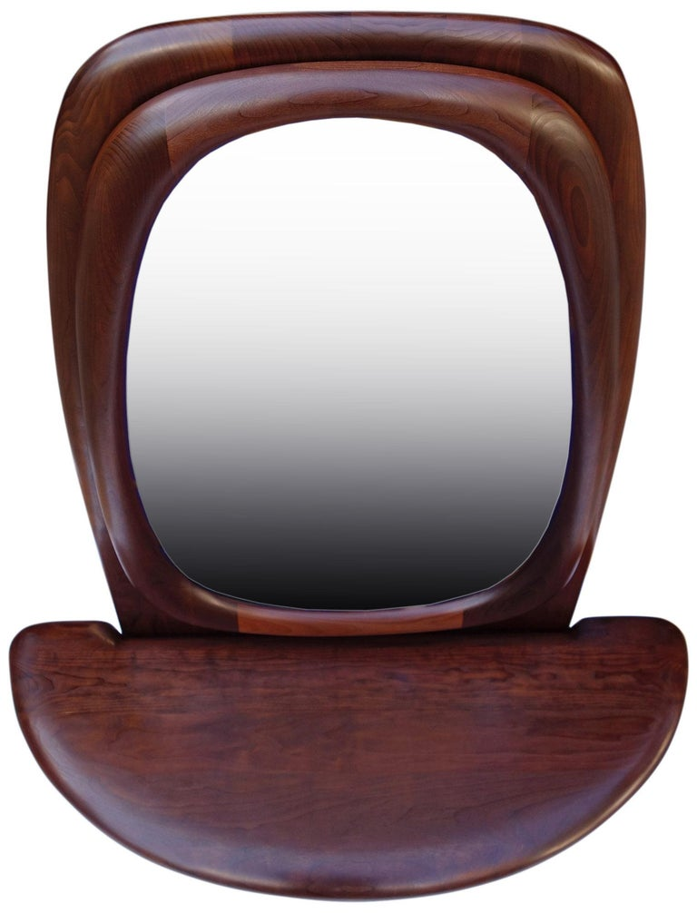 Midcentury Monumental Riverstone Mirror by Dean Santner For Sale 5