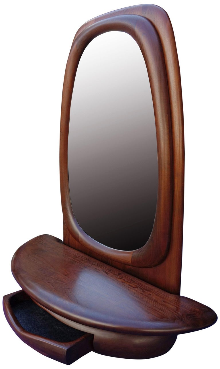 Midcentury Monumental Riverstone Mirror by Dean Santner For Sale 8