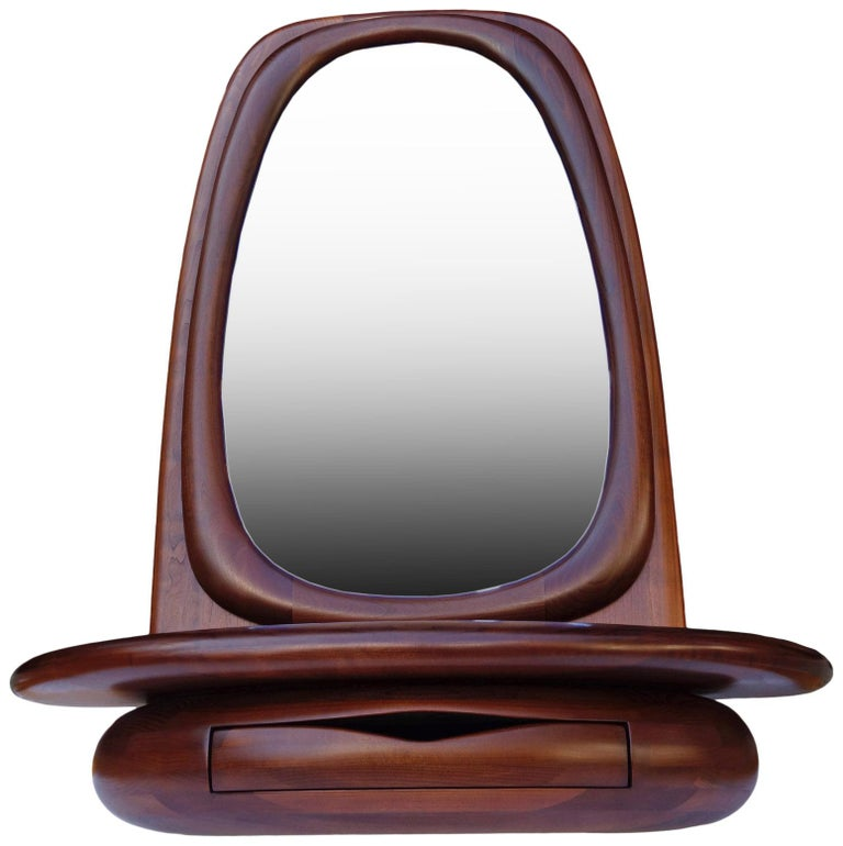 Mid-Century Modern Midcentury Monumental Riverstone Mirror by Dean Santner For Sale