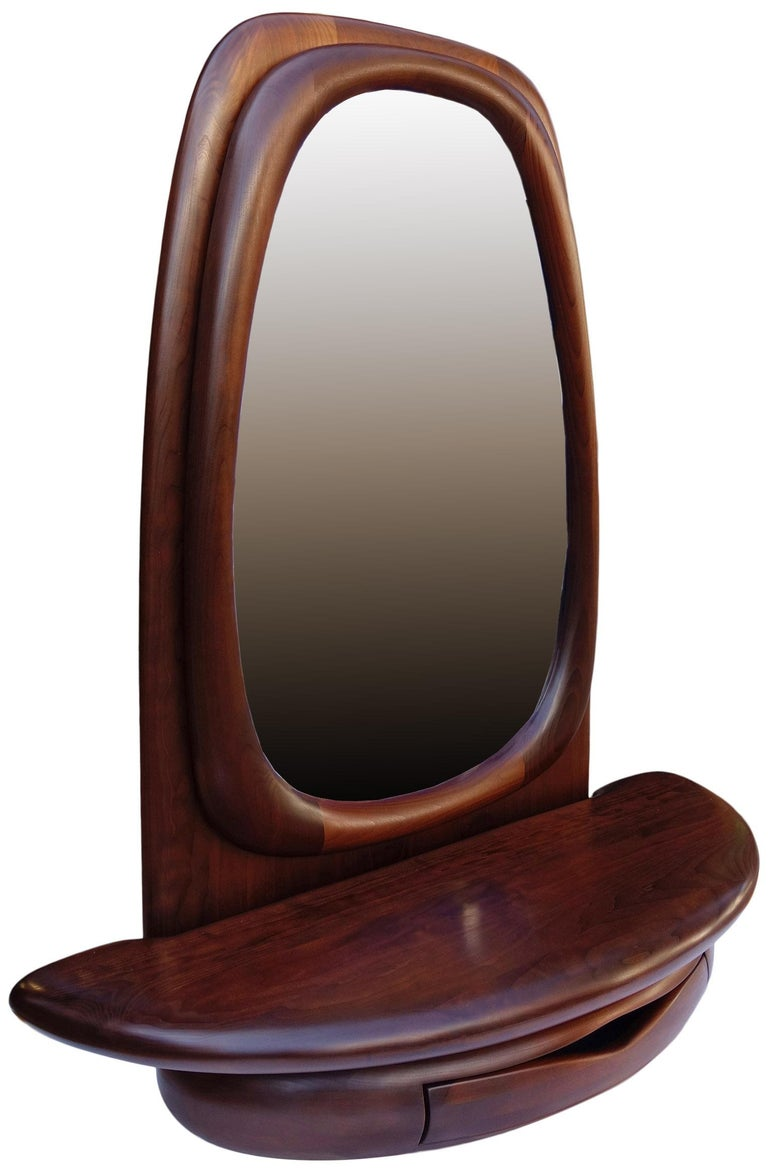 American Midcentury Monumental Riverstone Mirror by Dean Santner For Sale