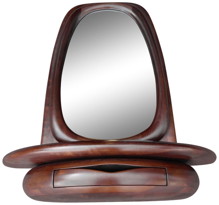 Midcentury Monumental Riverstone Mirror by Dean Santner In Excellent Condition For Sale In BROOKLYN, NY