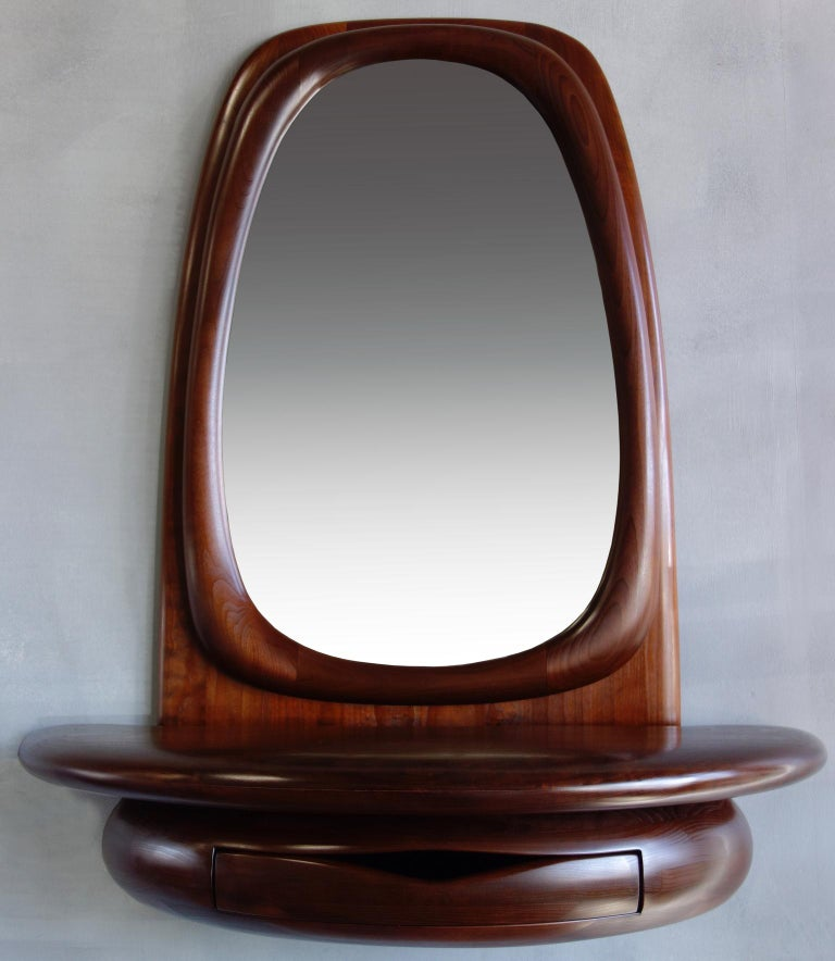 20th Century Midcentury Monumental Riverstone Mirror by Dean Santner For Sale
