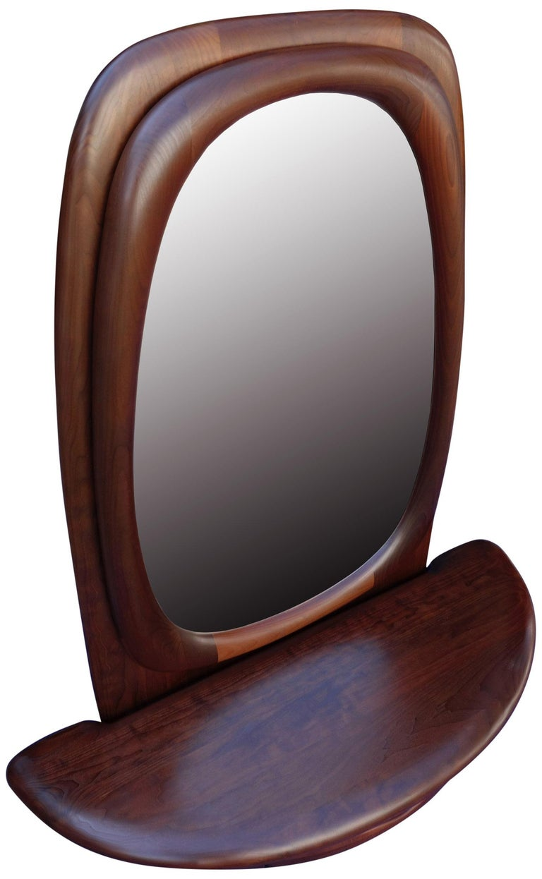 Midcentury Monumental Riverstone Mirror by Dean Santner For Sale 1