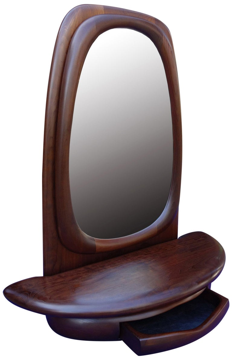 Midcentury Monumental Riverstone Mirror by Dean Santner For Sale 2