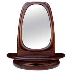 Midcentury Monumental Riverstone Mirror by Dean Santner
