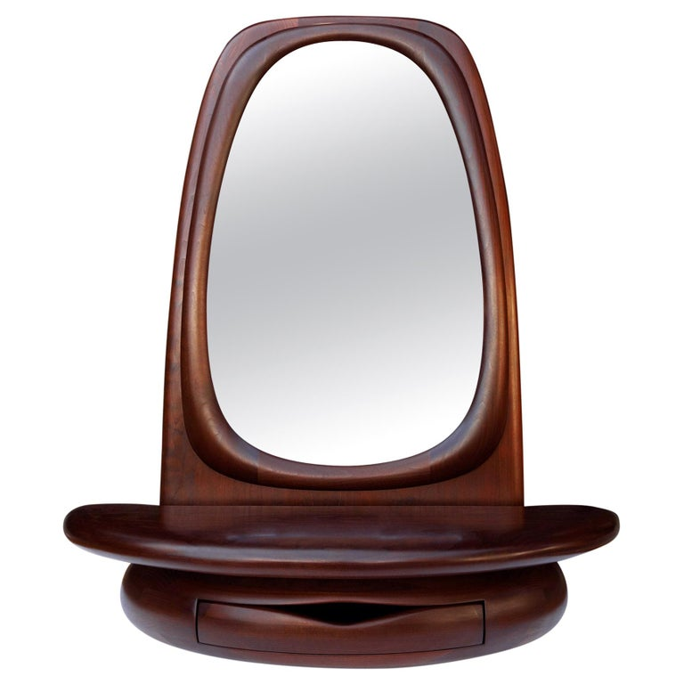 Midcentury Monumental Riverstone Mirror by Dean Santner For Sale