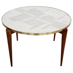 Midcentury Mosaic and Cherrywood Coffee Table, 1960s