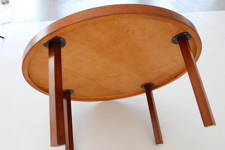 Midcentury Mosaic and Teak Sofa Table or Coffee Table by Berthold Muller, 1960s For Sale 7