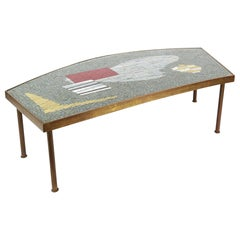 Midcentury Mosaic Coffee Table by Berthold Müller, 1950s