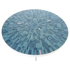Midcentury Mosaic Tile and Steel Coffee Table by Berthold Muller, 1960