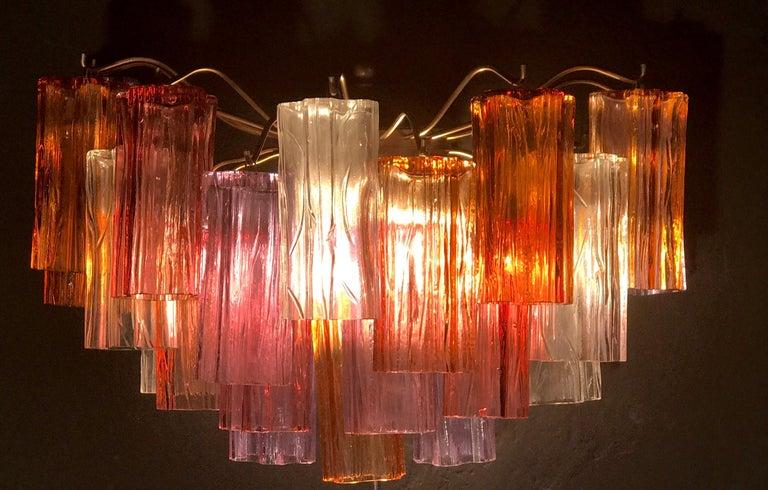 Midcentury Multicolored Murano Glass Tronchi Chandelier by T.Zuccheri for Venini For Sale 8