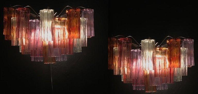 Midcentury Multicolored Murano Glass Tronchi Chandelier by T.Zuccheri for Venini For Sale 9