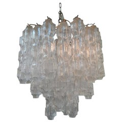 Midcentury Murano Glass Chandelier Attributed to Toni Zuccheri for Venini