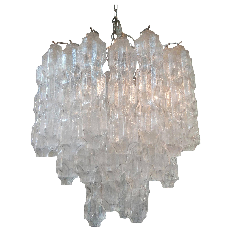 Midcentury Murano Glass Chandelier Attributed to Toni Zuccheri for Venini