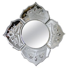 Midcentury Murano Glass Mirror, Italy, circa 1950-1960