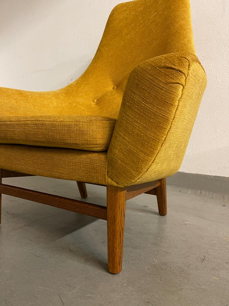 Midcentury Mustard Colored Lounge Chair S.M. Wincrantz, Sweden 3