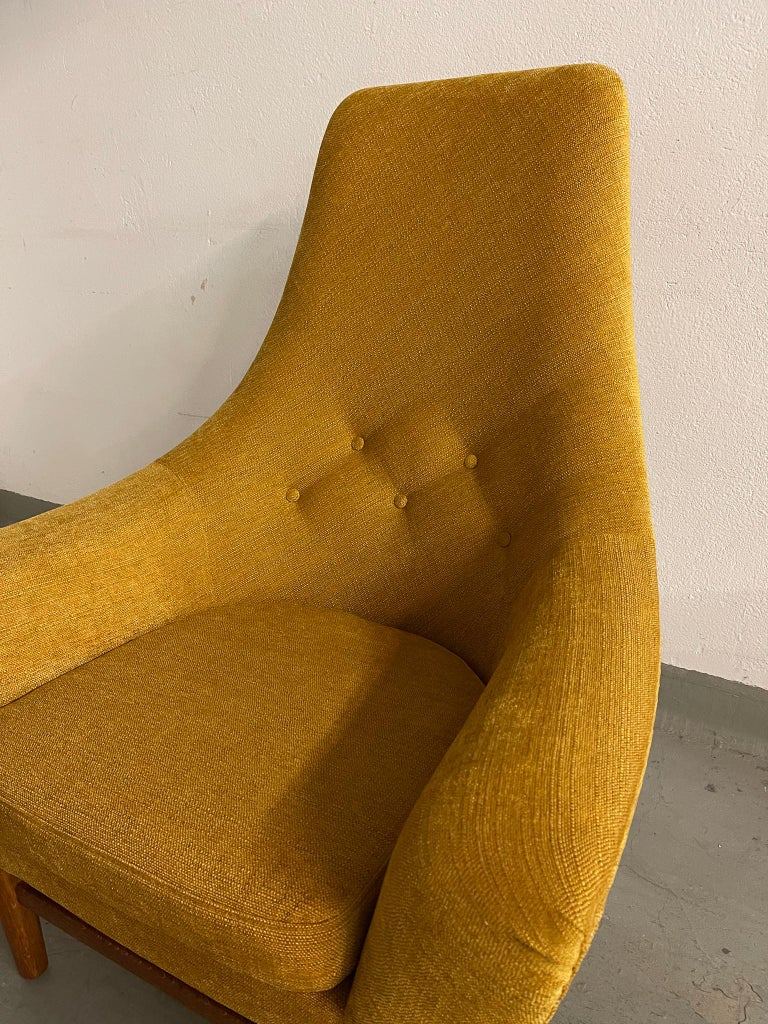 Midcentury Mustard Colored Lounge Chair S.M. Wincrantz, Sweden 4