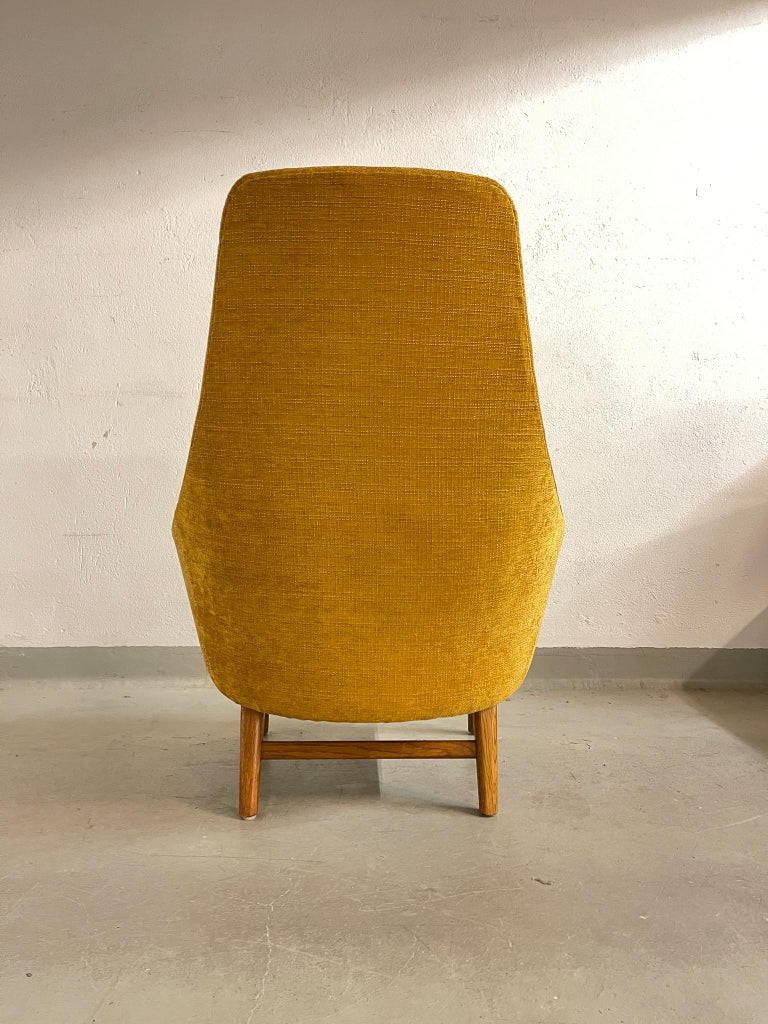 Midcentury Mustard Colored Lounge Chair S.M. Wincrantz, Sweden 7