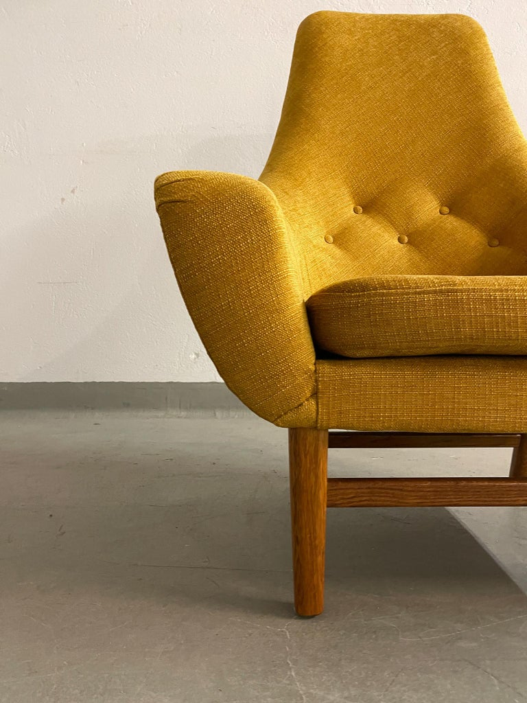 Mid-20th Century Midcentury Mustard Colored Lounge Chair S.M. Wincrantz, Sweden