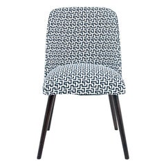 Midcentury Black and White Chair