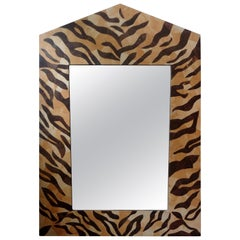 Midcentury Neoclassical Style Coconut Shell Mirror