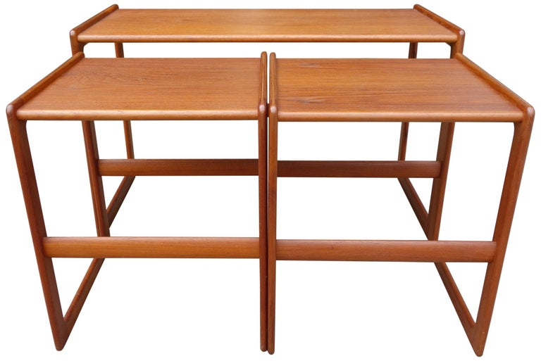 Danish Midcentury Nesting Tables by Arne Hovmand Olsen for Mogens Kold For Sale