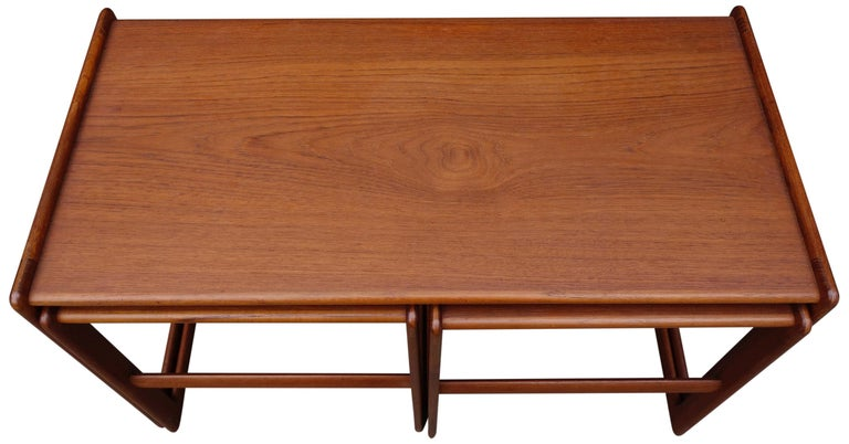Midcentury Nesting Tables by Arne Hovmand Olsen for Mogens Kold For Sale 1