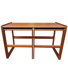 Midcentury Nesting Tables by Arne Hovmand Olsen for Mogens Kold